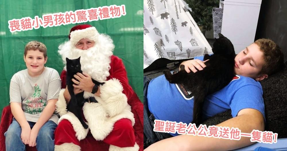 最棒的聖誕禮物!剛失去小貓的傷心男孩,聖誕老公公驚喜送給他一隻小黑貓!